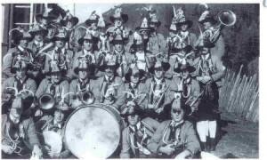 14 alte und 11 neue Musikanten gaben der Musikkapelle nach dem 2. Weltkrieg wieder Aufschwung