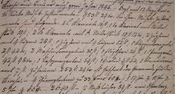 Inventarverzeichnis / Kirchenchronik aus dem Jahr 1845